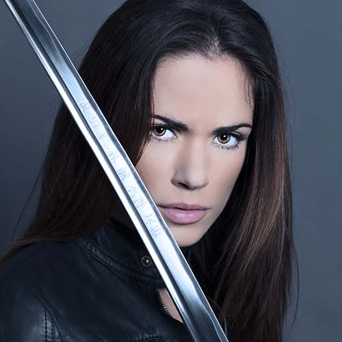 Kate with sword