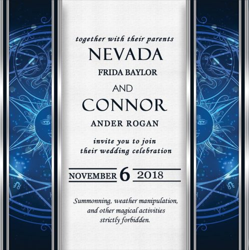 Wedding Invitation to Rogan and Nevada's wedding: November 6, 2018