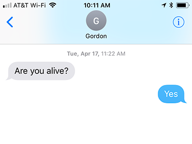 Are you alive text